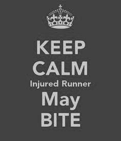 Keep calm Injured Runner may bite