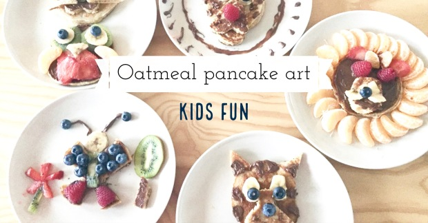 Oatmeal pancake art for kids